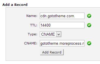 Add a CNAME record in cpanel