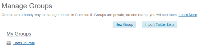 Manage groups in commun.it Twitter community manager