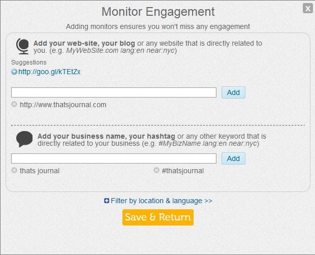 Monitor engagement in commun.it Twitter community manager